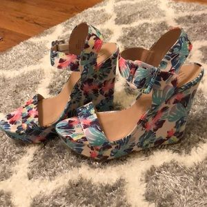 Never Worn! Multi-Colored wedges